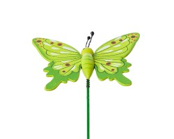 Вставка Бабочка 6*Н20см зеленый арт.FH17297G