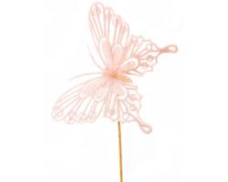 Вставка Бабочка барокко 8*H50см розовый