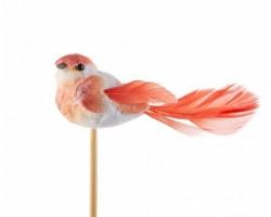 Птичка Florence на вставке (пластик) 10*50см оранжевый 5500012423046