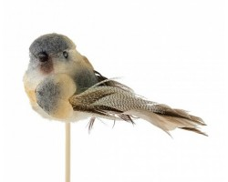Птичка Tommy на вставке (пластик) 6,5*50см голубой 5500010444751