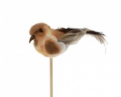 Птичка Tommy на вставке (пластик) коричневый 6,5*50см 5500011425940