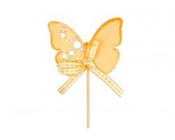 Вставка Бабочка 5,5*7см оранжевая арт.52354