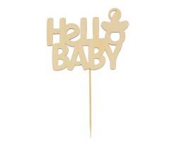 Топпер деревянный Hello Baby