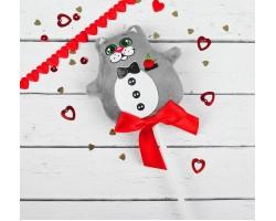 Игрушка в букет на вставке котик Джентельмен арт.2728297
