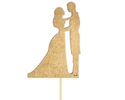 Топпер Влюбленная парочка на подвесе золото арт.3134207
