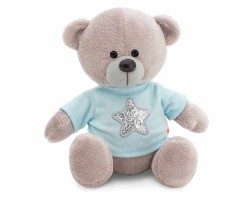 Медведь Топтыжкин звезда 25см серый арт.MA1993/25