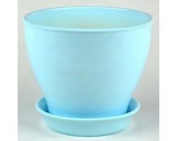 Горшок Ксения 0,5л голубой