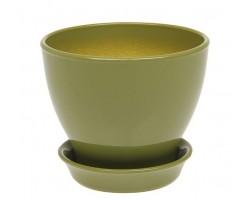 Горшок Ксения 0,5л оливковый