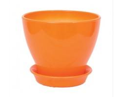 Горшок Ксения 0,5л оранжевый
