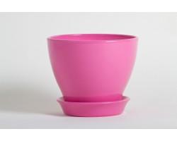 Горшок Ксения 0,5л розовый