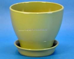 Горшок Ксения 1,5л оливковый