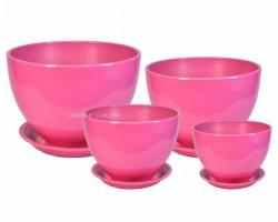 Венеция Глянец розовый ГЛ304 (наб.4шт)
