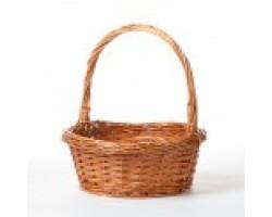 Корзина плетеная (ива) 30*H13/22см коричневый