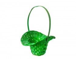 Корзина плетеная (бамбук) Шляпа D21/13*H14/29см зеленый