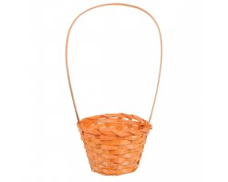 Корзина плетеная (бамбук) D13*H9.5/28см оранжевый