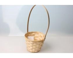 Корзина плетеная (бамбук) D13*H9.5/28см натуральный