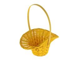 Корзина плетеная (бамбук) Шляпа D18*H5,5/29см желтый
