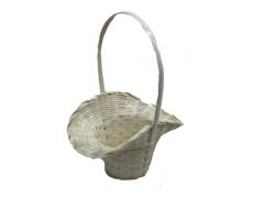 Корзина плетеная (бамбук) Шляпа D18*H5,5/29см белый