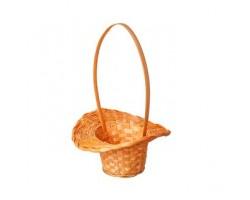 Корзина плетеная (бамбук) Шляпа D18*H5,5/29см коричневый