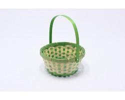 Корзина плетеная (бамбук) D21*H10/24см зеленый