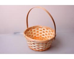 Корзина плетеная (бамбук) D21*H10/24см оранжевый