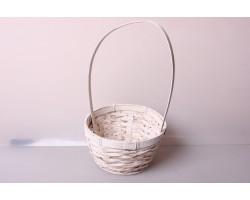 Корзина плетеная (бамбук) D17*H10.5/33см белый