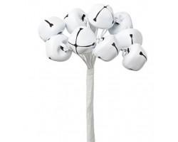 Набор колокольчиков на вставках D1,5*H9см (10шт) белый арт.KFS6-967A-WHITE