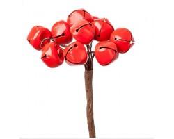 Набор колокольчиков на вставках D1,5*H9см (10шт) красный арт.KFS6-967A-RED