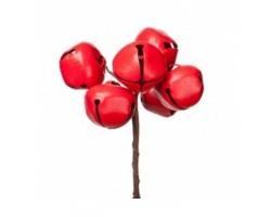 Набор колокольчиков на вставках D3*H9см (6шт) красный арт.KFS6-964A-RED