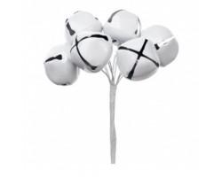 Набор колокольчиков на вставках D3*H9см (6шт) белый арт.KFS6-964A-WHITE