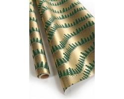 Бумага капелла 41/X629-45 Еловый хоровод зеленый 100см*10м