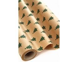 Бумага крафт дольче натура 16/X02-45 Елочки зеленые 70см*10м