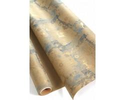Бумага крафт 22/X04-55 дольче экошик Винтажный олень на синем 70см*10м