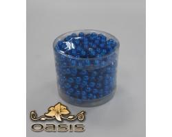 Бусы на бобине 011/55 D8мм*5м металл синие