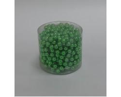 Бусы на бобине 011/45 D8мм*5м металл зеленые