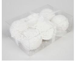 Набор снежков D10см (6шт) белый