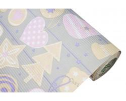 Бумага рельефная Новый Год 100см*10м серый арт.63177
