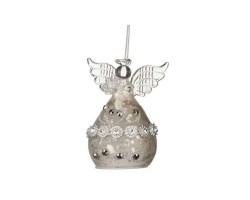 Декоративное изделие Ангел 6*5*9см серебро антик 862-056