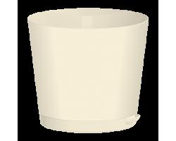 Горшок Easy Grow с прикорневым поливом D16см 2л молочный/сливочный