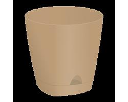 Горшок AMSTERDAM с прикорневым поливом D20см 4,0л молочный шоколад