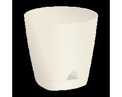 Горшок AMSTERDAM с прикорневым поливом D20см 4,0л сливочный