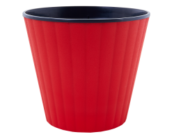 Вазон Ибис с двойным дном 13*11,2см 1,0л красный бархат+черный