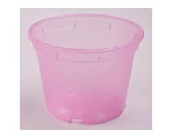 Вазон дренажный для орхидей 16*12см 1,7л прозр.розовый