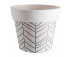 Вазон Гамма с декором Stripe белая роза 26*22см 7,0л