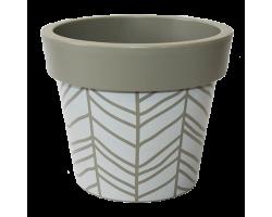 Вазон Гамма с декором Stripe какао 20*17см 2,8л