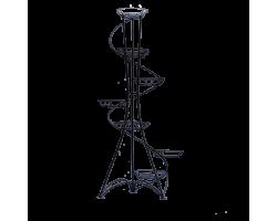 Подставка напольная Спираль (металл) на 7 горшков 134*50*50см