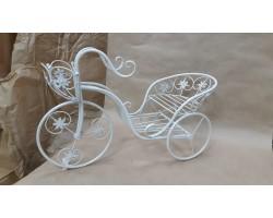 Велосипед (металл) 56*21*34см белый арт. HX12088A