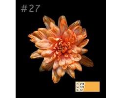 Краска для окрашивания срезанных цветов 1л 27 оранжевый огонь