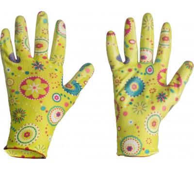 Перчатки Listok хозяйственные нейлон с нитр.покр.салатовый S арт.LNL189