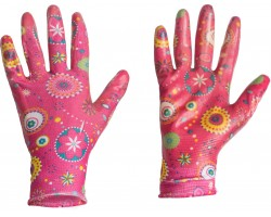 Перчатки Listok хозяйственные нейлон с нитр.покр.розовый S арт.LNL189